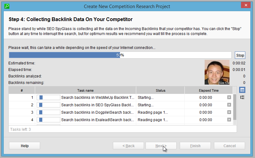 Seo-SpyGlass Step 4 : Collecting Backlink Data On Your Competitor