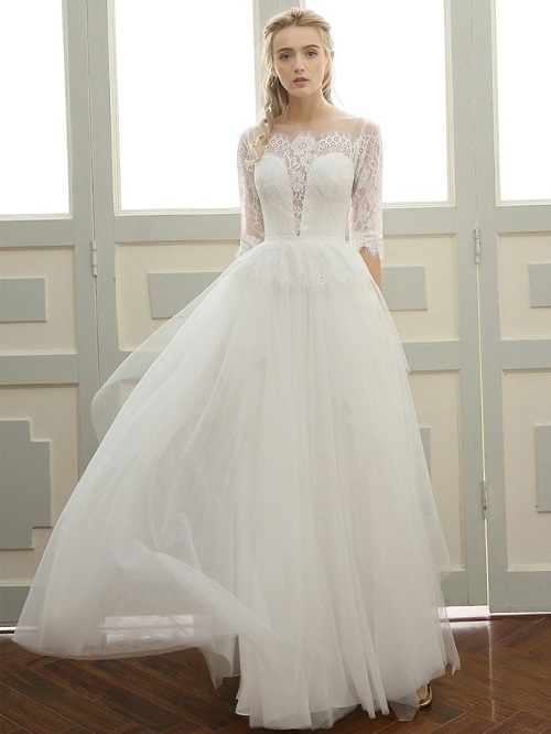 ribbons wedding dresses