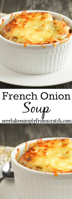 Hearty French Onions Soup is the perfect comfort food! serenabakessimplyfromscratch.com
