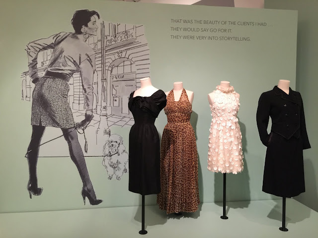 Retro fashion displayed in Jim Howard Fashion Illustration Exhibition