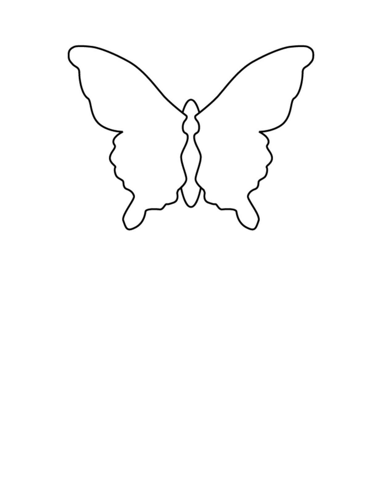 butterfly paper cut out template - crafty bitch butterfly paper mobile