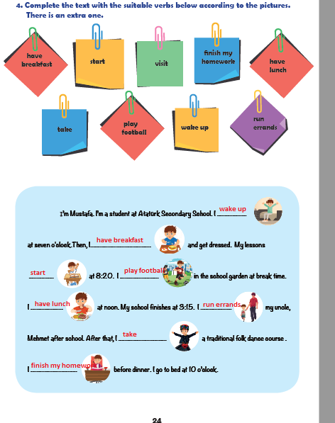 6. Sınıf MEB Yayınları İngilizce 24. Sayfa Cevapları Unit 1 Life