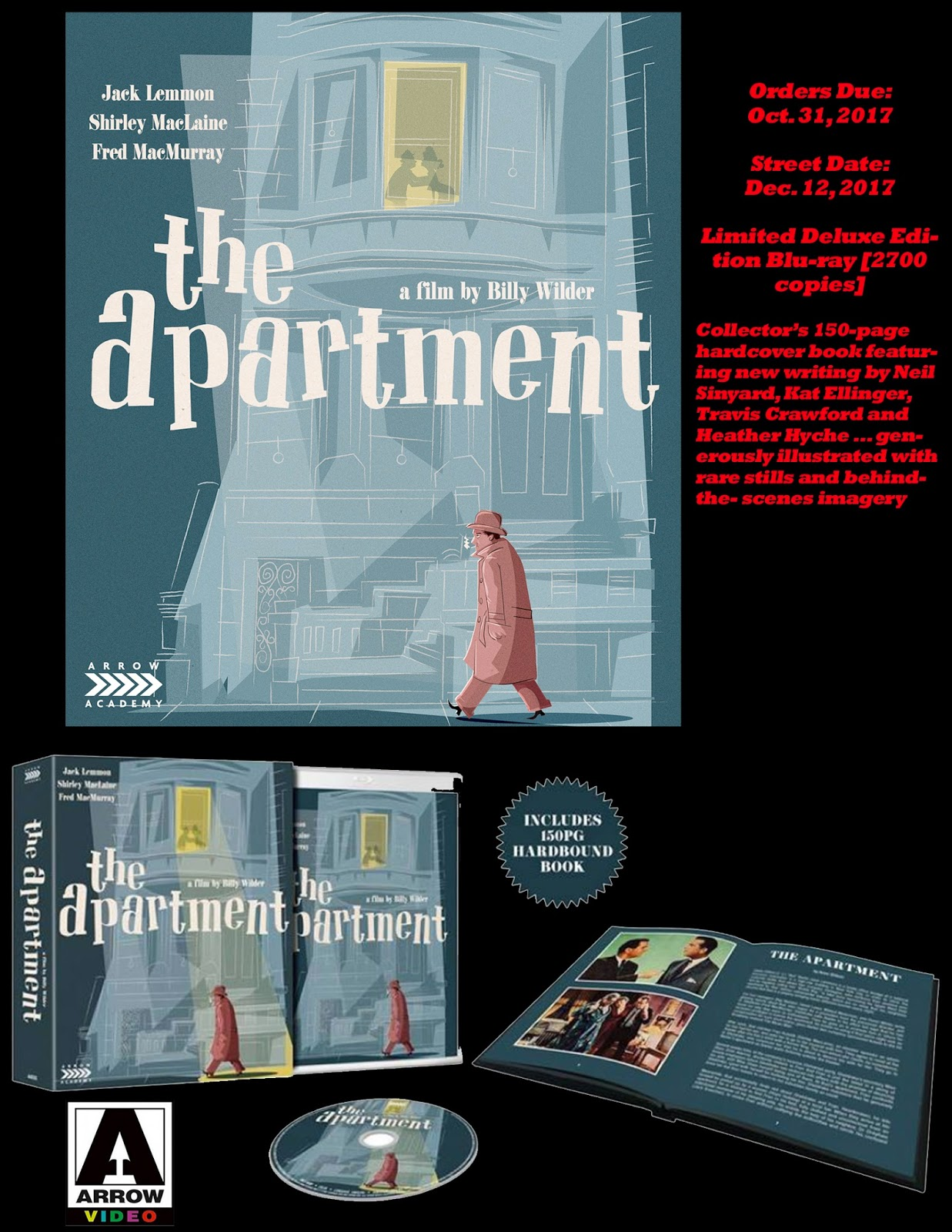 Arrow Video S 4k Restoration Of The Apartment Heads To Blu Ray On Dec 12