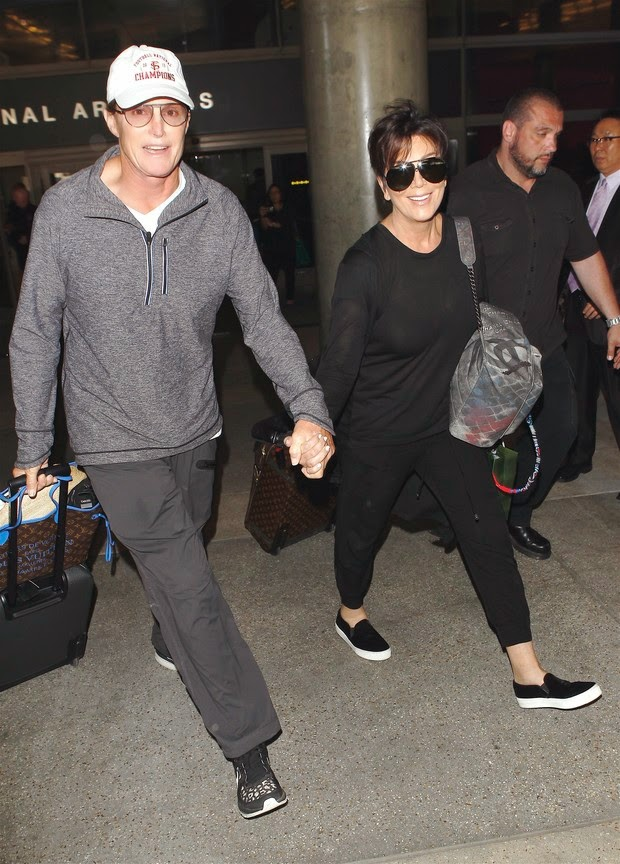 Kris and Bruce Jenner landed in hand