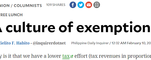 Tax Cut 29, Culture of exemptions and culture of envy