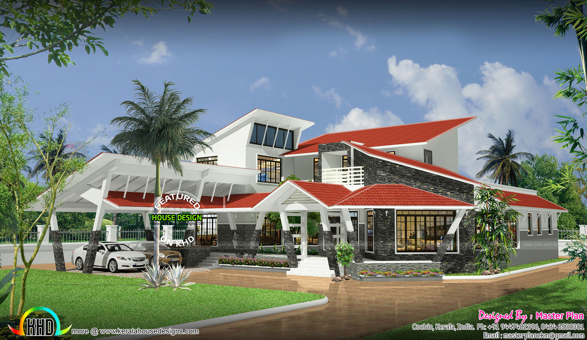 Extraordinary roof modern house   Kerala home design