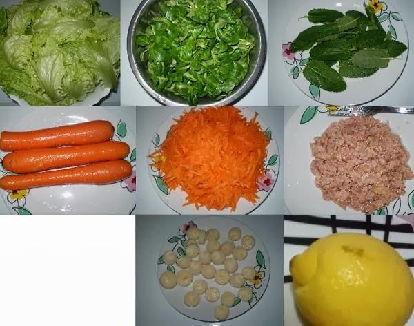 Receita de salada de alface com atum