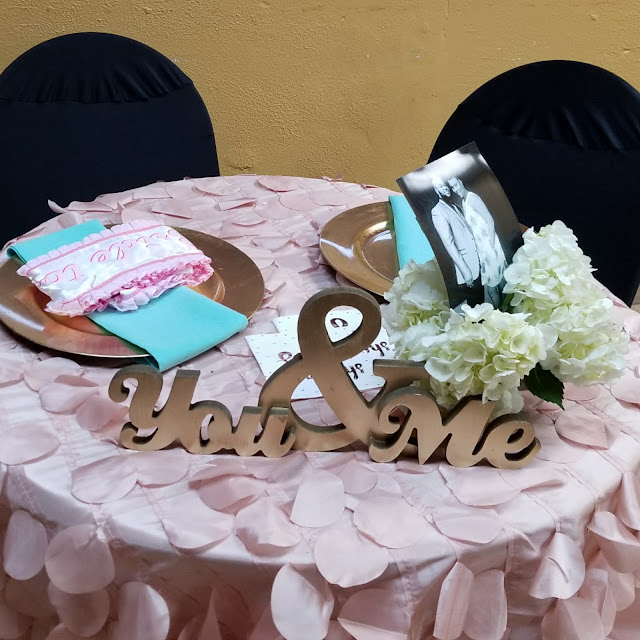 You and Me Table Sign, Wedding table props