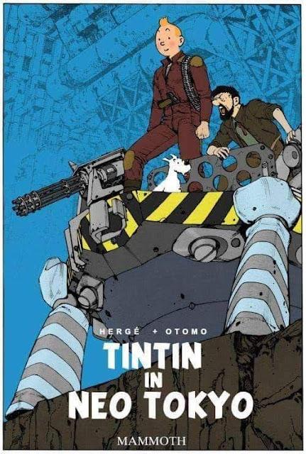 Meme de humor sobre Tintín y Akira