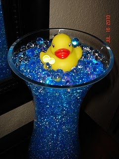 Baby shower del patico de hule for Hule para estanque