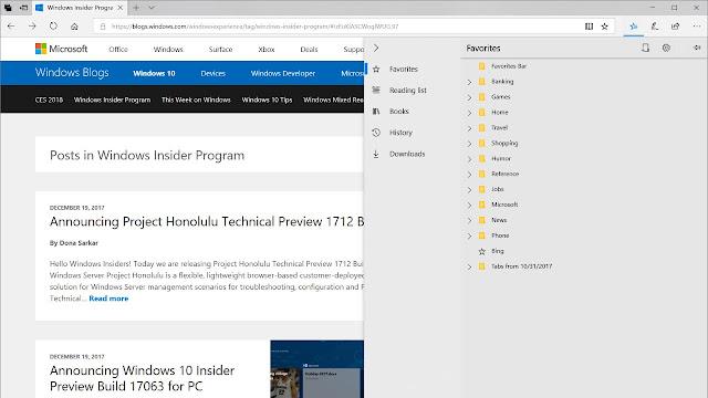 Fitur baru Microsoft Edge di Redstone 4