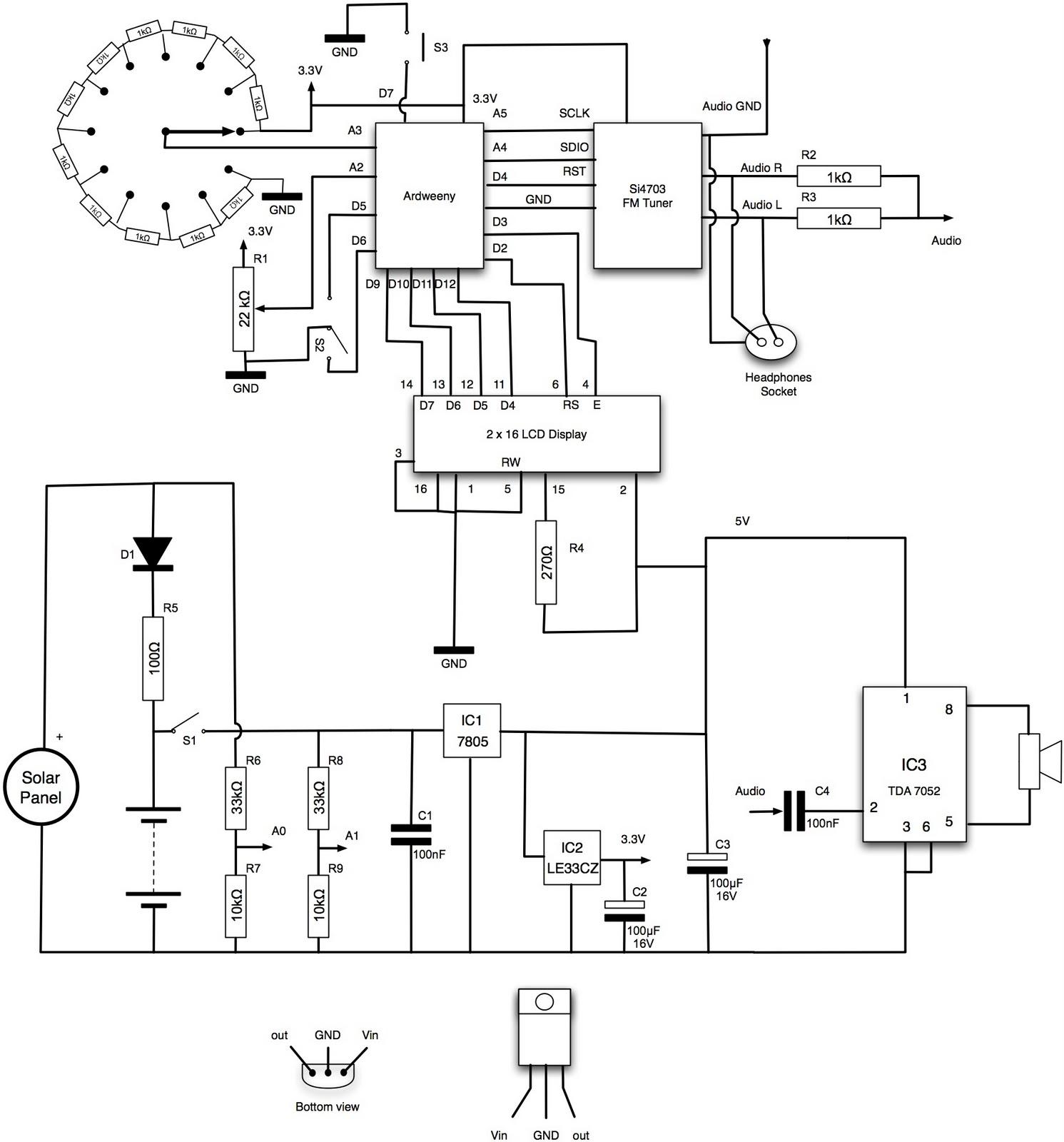 Dr. Monk's DIY Electronics Blog: Arduino Solar Radio