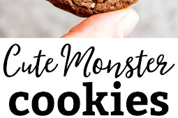 Cute monster cookies