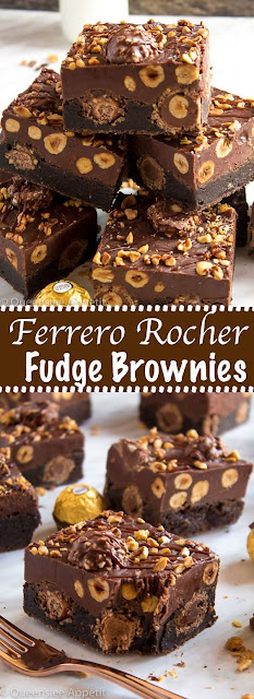 Ferrero Rocher Fudge Browníes