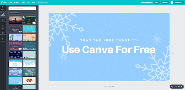 Canva Online Photo Editing tool