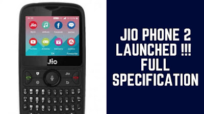 Reliance Jio Phone 2 has launched during the 41st AGM of Reliance Industries.