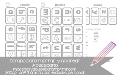 domino para imprimir y colorear