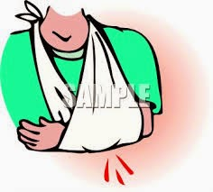 Upper arm injury--first aid guide