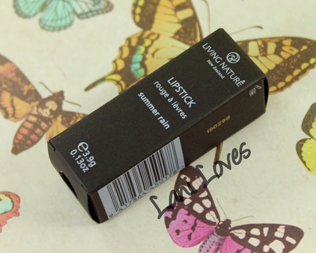 Living Nature - Summer Rain Lipstick Swatches & Review