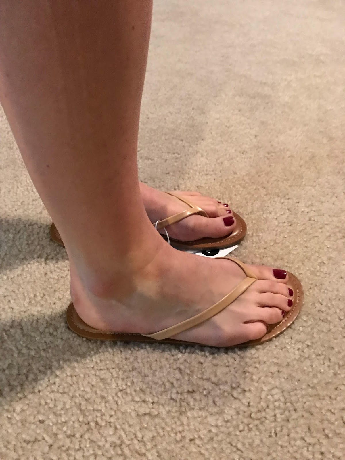 f58221992119 I m always looking for new flip flops because I live in them as soon as the  weather gets warm. I was super excited to see these nude ones because they  are ...