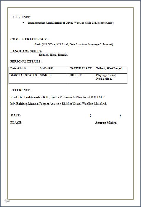 resume in doc