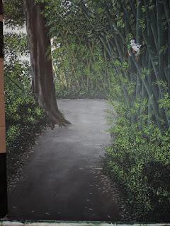 Obra los Monos, de la serie Moradores Jorge Marin paisajista Colombiano