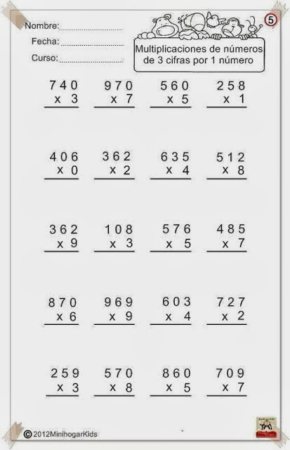 Mis Cosas De Maestra Multiplicaciones Por Varias Cifras