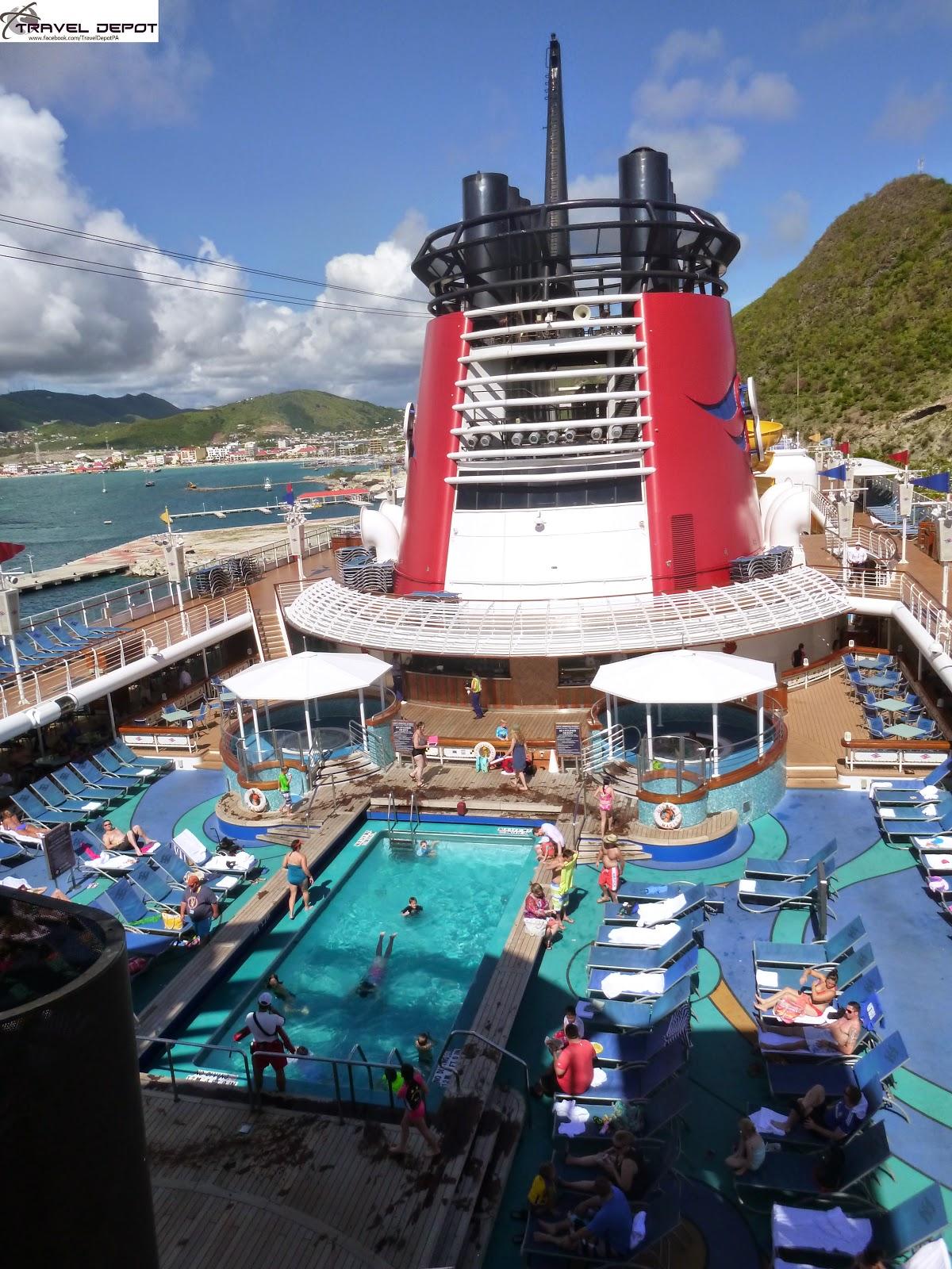 Pool Areas Aboard The Disney Magic Cruise Ship