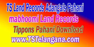 Telangana TS Land Records Tippons Pahani Download mabhoomi.telangana.gov.in