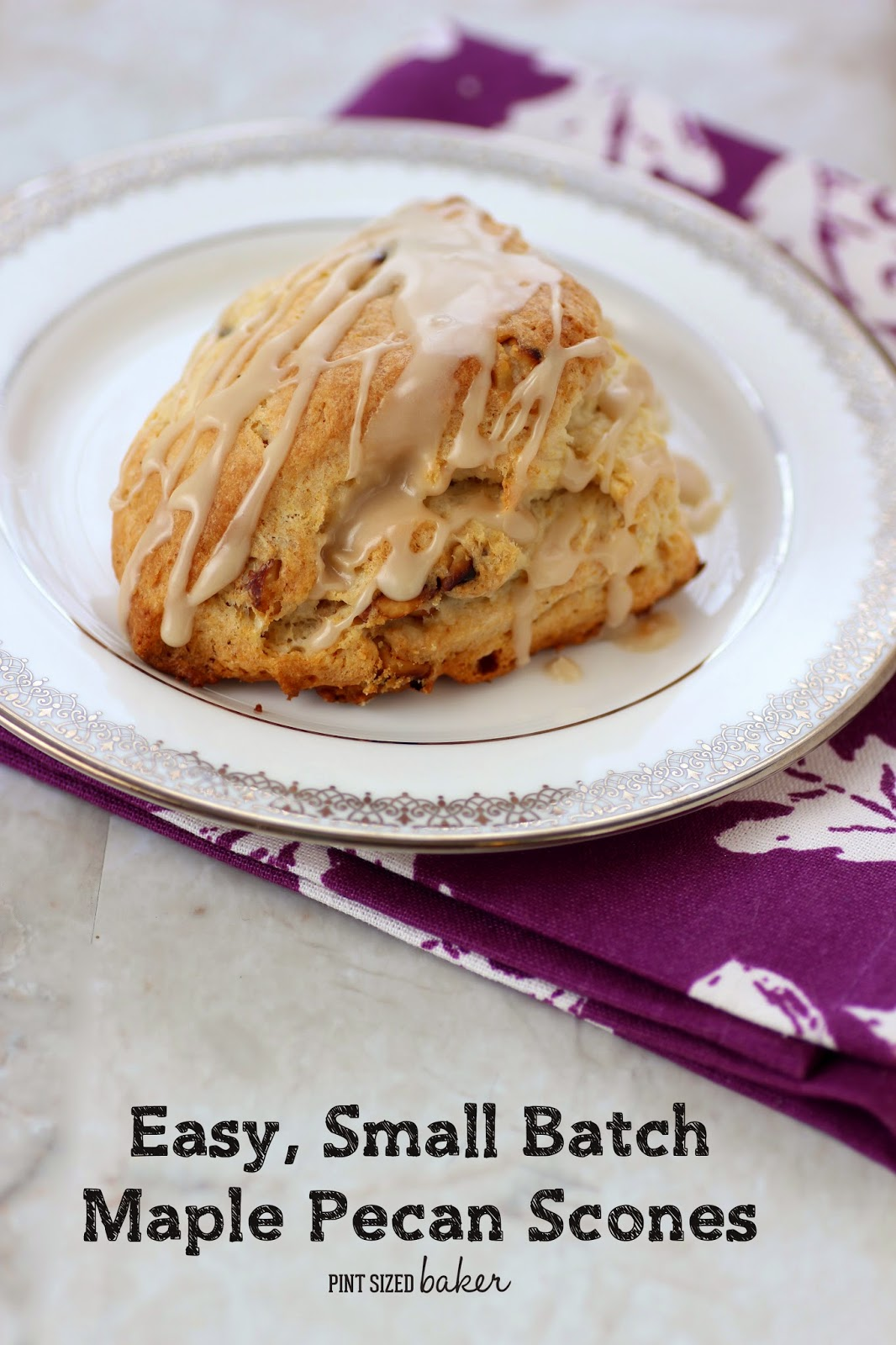 A quick an easy recipe for Maple Pecan Scones. Makes just 4 - perfect for an easy weekend breakfast.