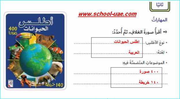 حل درس الأطالس والموسوعات دراسات اجتماعية الصف السادس فصل اول – مدرسة الامارات
