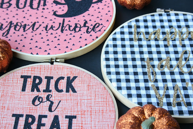 Create fun and easy DIY embroidery hoop art with Cricut EasyPress!