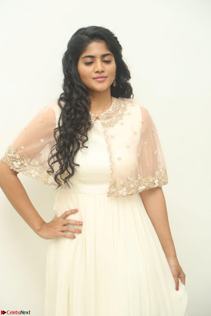 Megha Akash in beautiful Cream Transparent Anarkali Dress at Pre release function of Movie LIE ~ Celebrities Galleries 002.JPG