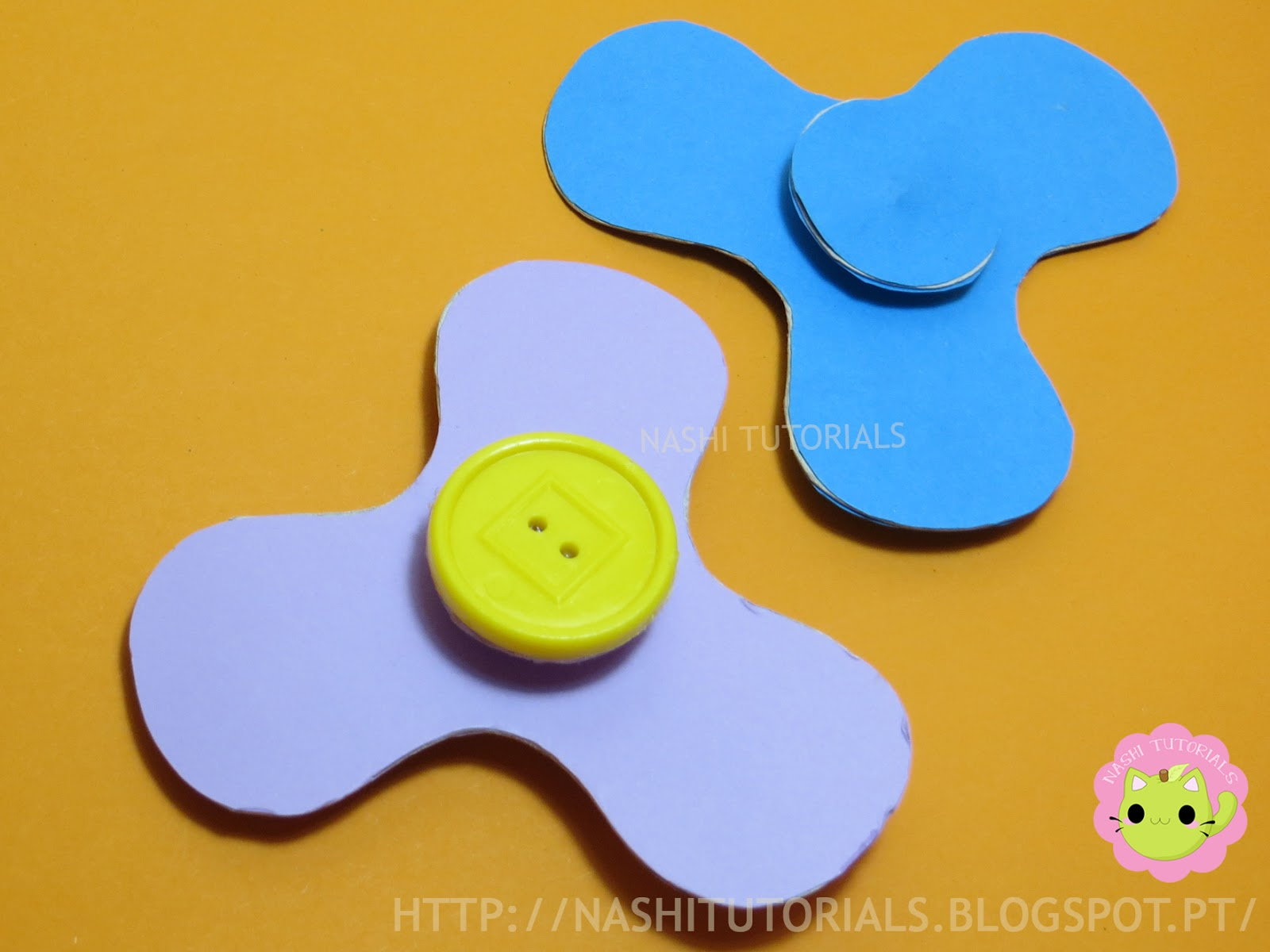 how to make hand spinner with paper