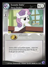 My Little Pony Sweetie Belle, Savvy Student Primer Deck CCG Card