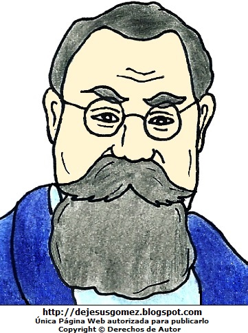 Dibujo de Venustiano Carranza a colores, imagen de Venustiano Carranza para niños. Dibujo de Venustiano Carranza hecho por Jesus Gómez
