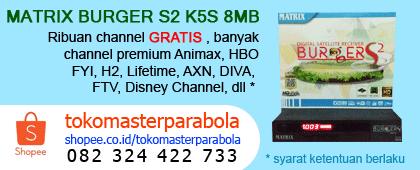 Spesifikasi dan harga Matrix Burger K5S 8MB Terbaru