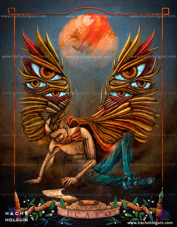 Ilustración. Icarus: wings of creativity por Hache Holguín