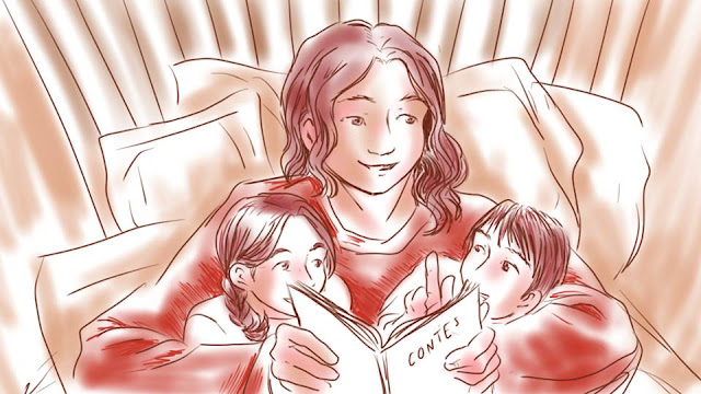 Lecture en famille - calendrier de tendresses