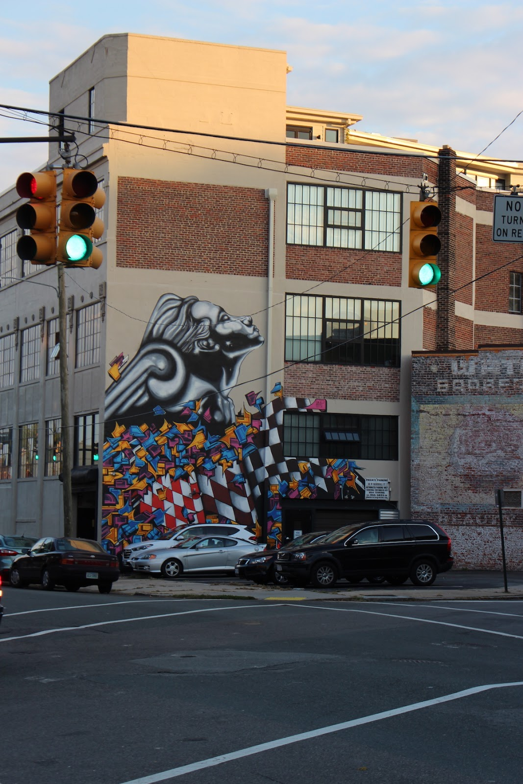 This is a photo of a street mural in Richmond Virginia.