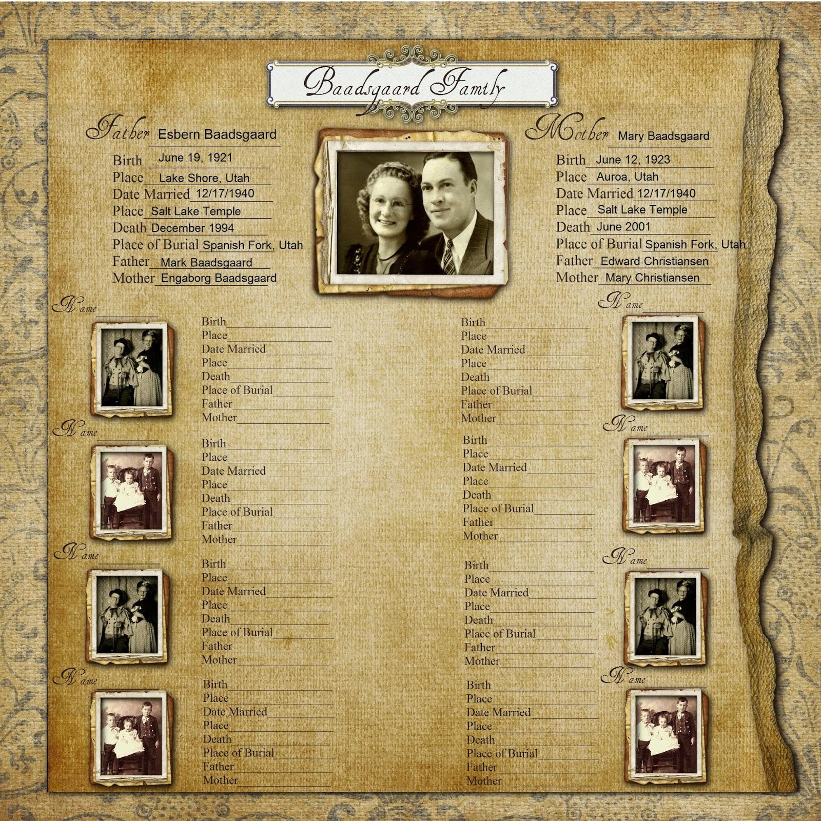 ancestry book templates - geneawebinars make a free family history chart free webinar
