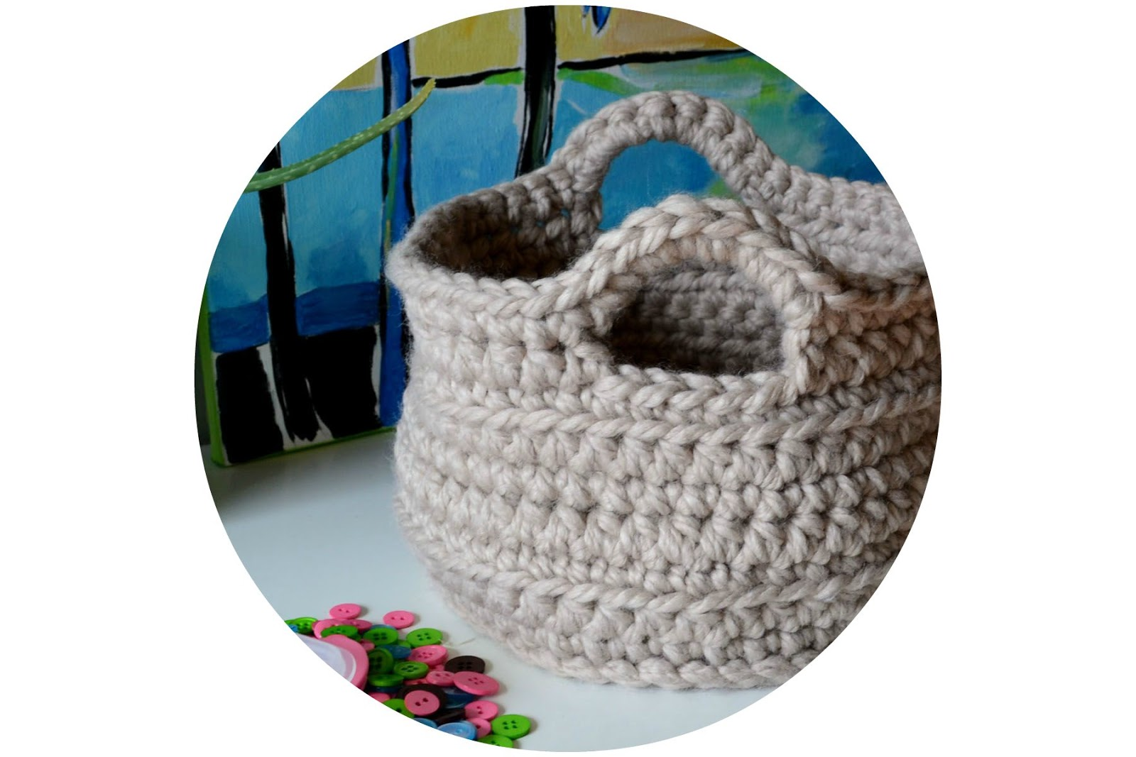 It S Bad Teppich Choose Crochet In Color Chunky Crocheted Basket Pattern