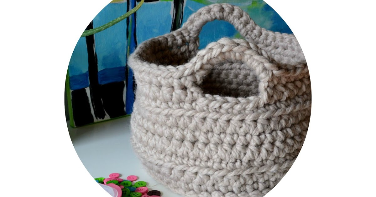 Crochet In Color Chunky Crocheted Basket Pattern