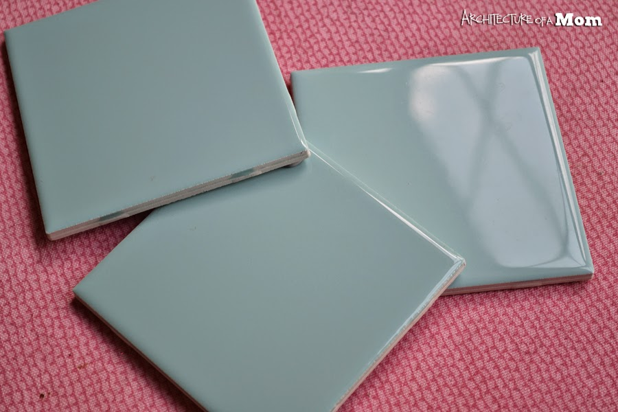 Custom coasters, etch tiles, Silhouette tutorial