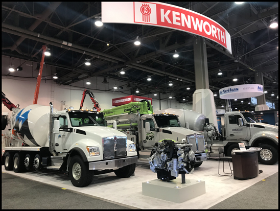 Kenworth booth at World of Concrete 2019