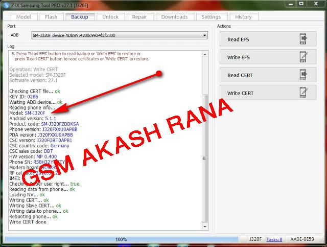 Gsm Akash Rana: Samsung J320F Cert File Dual imei root file
