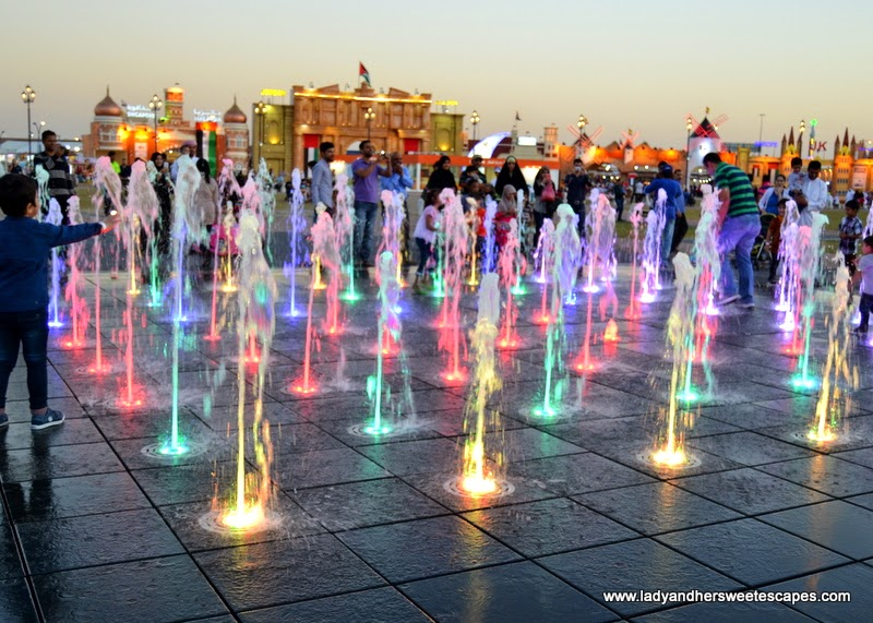 colorful geysers at The Global Village