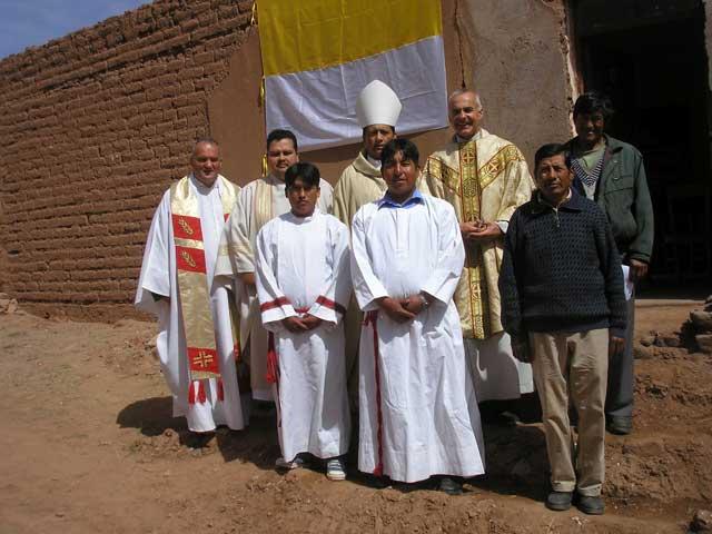 Amtseinführung im Jahre 2008 in Esmoraca Bolivien