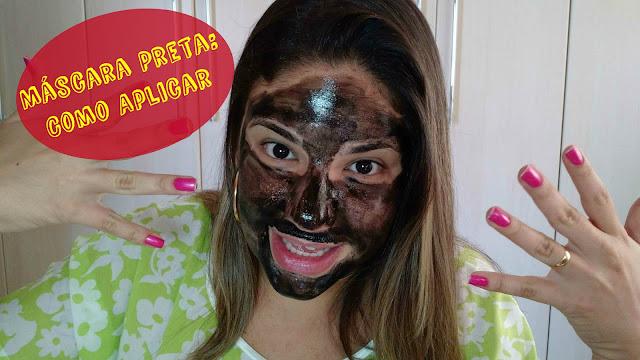 Como aplicar máscara preta da china