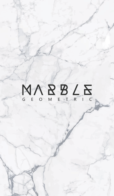 MARBLE(GEOMETRIC)#white